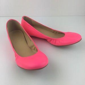 J Crew Cece Ballet Flats Hot Pink